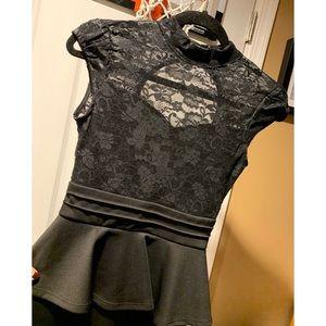 Black Lace Windsor Dress (Small)